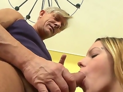 Bernice is getting her chaste pussy ravished by old Christoph Clark and she is loving every moment of it