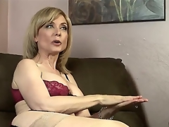 Cute blond MILF likes to get fucked. Lewd mature has a conversation about that but finally understands that that babe should stop and just to have a fun. Check it out asnd enjoy!