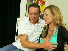 Mature/MILF and sexy Nicole Wright is the best stepmother ever. This blonde sweetheart is breathtaking as this babe lets her stepson rub her big wet tits. She then gets his wang out and gives him a great blowjob before this babe gives him a great tit fuck.
