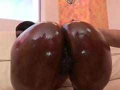 Nyomi Banxxx lounges by the pool shaking her moneymaker. After teasing you with her amazing ass, she heads indoors where shes greeted by Jordan Ash who drenches her fine behind in oil.