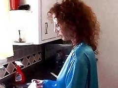sædsprut puling milf blowjob kjøkken