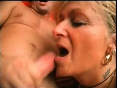 moden blonde blowjob gamla