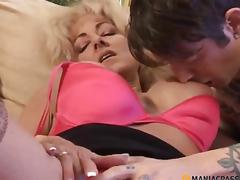 Woman strips juvenile chap