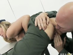 milf blonde uniform store bryster hd porno