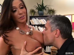 Busty brunette teacher shows her class how to have a proper agonorgasmos