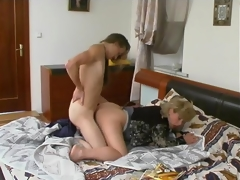 Oral games with younger dude turning into sheer fuck for breasty mature honey