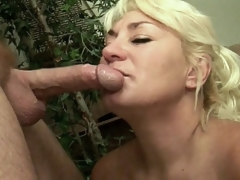 Ginger Spice and Dane Hayes are two sexy aged chicks who know just how to do their own thing. During the time that sexy granny Ginger Hayes is engulfing a massive cock, breasty aged Dane Hayes is calling up her lover so that babe could suck his ramrod also and receive a facial.