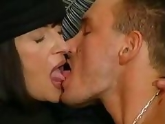 Aged brunette takes care of her gigolo with mouth and bawdy cleft
